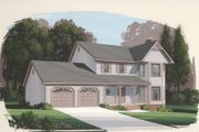 Country Style House Plan - 3 Beds 2.5 Baths 1598 Sq/Ft Plan #56-126