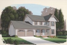 Dream House Plan - Country Exterior - Front Elevation Plan #56-126