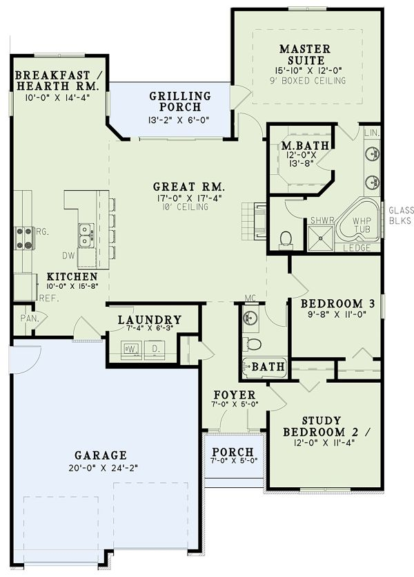 Traditional Floor Plan - Main Floor Plan Plan #17-3425