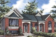 European Style House Plan - 2 Beds 1 Baths 865 Sq/Ft Plan #138-390 Exterior - Front Elevation