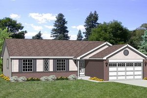 Ranch Exterior - Front Elevation Plan #116-245