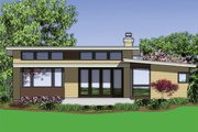 Modern Style House Plan - 3 Beds 2 Baths 1719 Sq/Ft Plan #48-559 Exterior - Rear Elevation