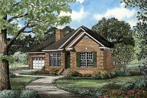 Traditional Exterior - Front Elevation Plan #17-1001