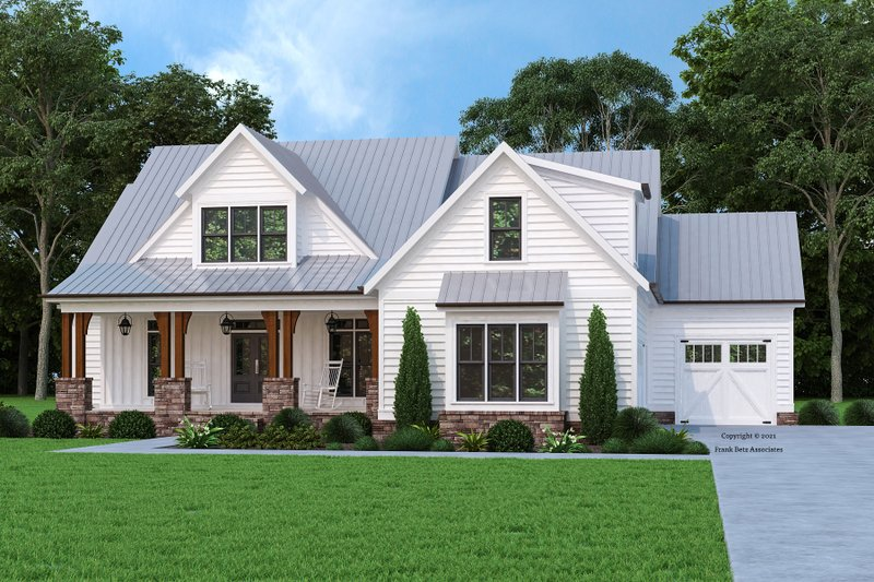 Architectural House Design - Farmhouse Exterior - Front Elevation Plan #927-1008