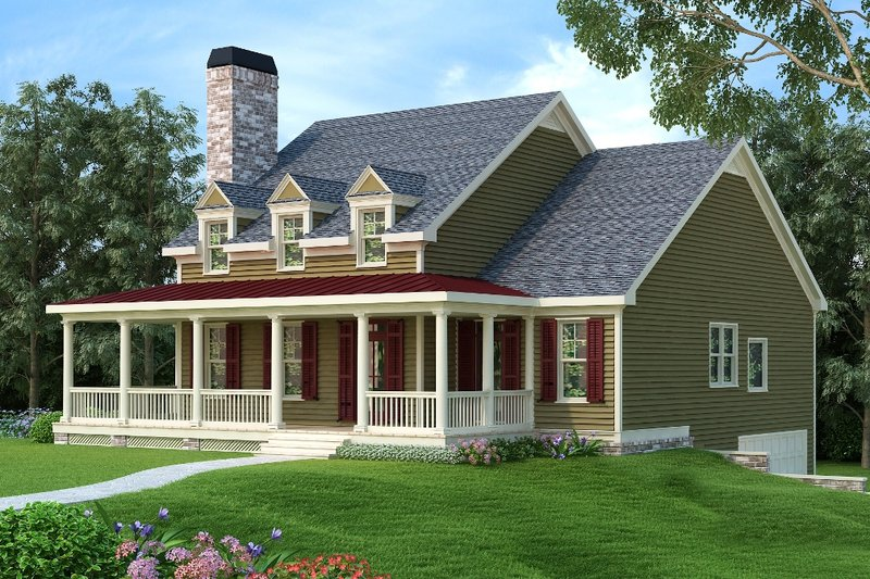 Country Exterior - Front Elevation Plan #419-249