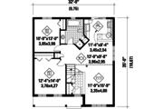 Country Style House Plan - 2 Beds 1 Baths 1042 Sq/Ft Plan #25-4772 Floor Plan - Main Floor Plan