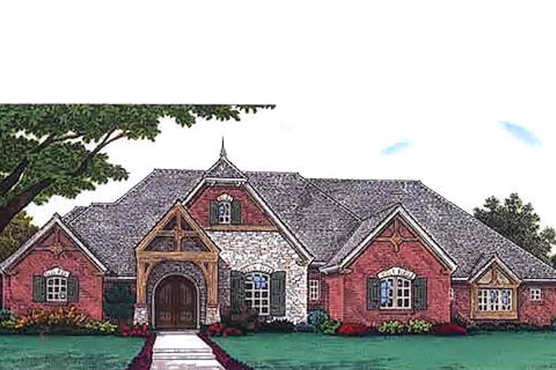 European Exterior - Front Elevation Plan #310-688