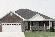 Ranch Style House Plan - 3 Beds 2 Baths 1568 Sq/Ft Plan #412-131 Exterior - Other Elevation