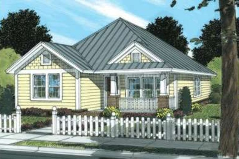 Craftsman Style House Plan - 3 Beds 2 Baths 1271 Sq/Ft Plan #20-1889 Exterior - Front Elevation