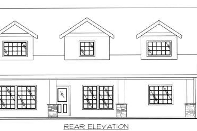 Traditional Exterior - Other Elevation Plan #117-566 - Houseplans.com