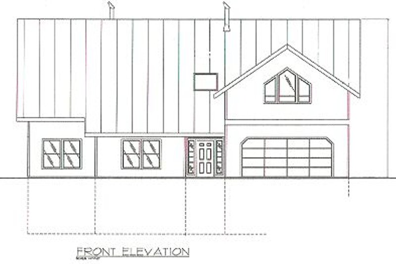 Traditional Exterior - Other Elevation Plan #117-169 - Houseplans.com