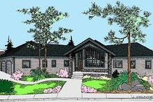 Home Plan - Modern Exterior - Front Elevation Plan #60-652