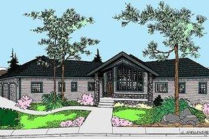 Modern Exterior - Front Elevation Plan #60-652