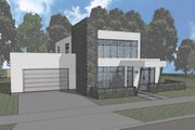 Modern Style House Plan - 3 Beds 2.5 Baths 2402 Sq/Ft Plan #910-1 Exterior - Front Elevation