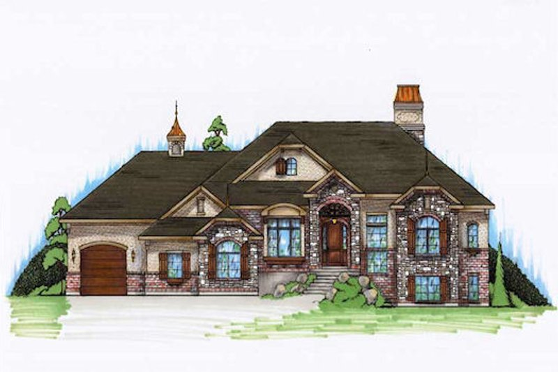 Dream House Plan - European Exterior - Front Elevation Plan #5-359