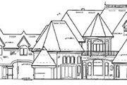 European Style House Plan - 5 Beds 5.5 Baths 6462 Sq/Ft Plan #417-448 Exterior - Rear Elevation