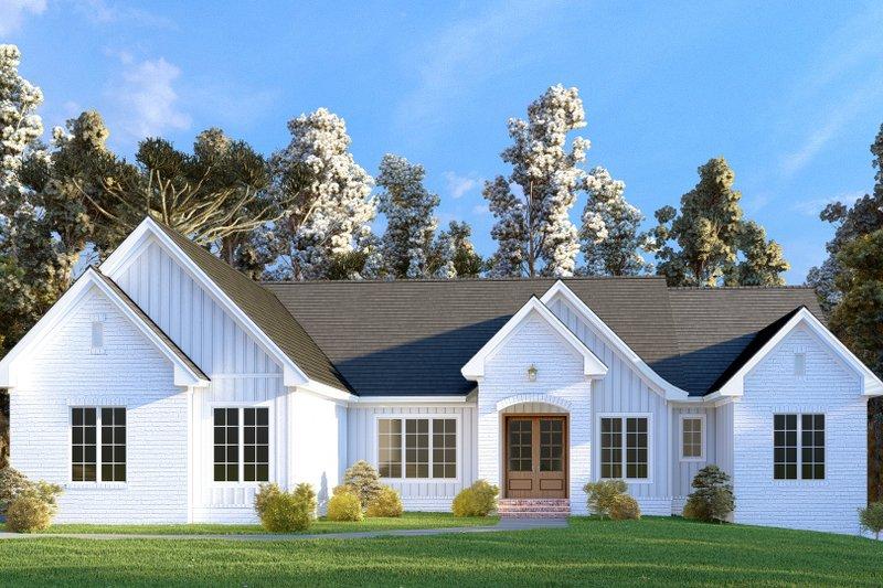 Architectural House Design - Farmhouse Exterior - Front Elevation Plan #437-129