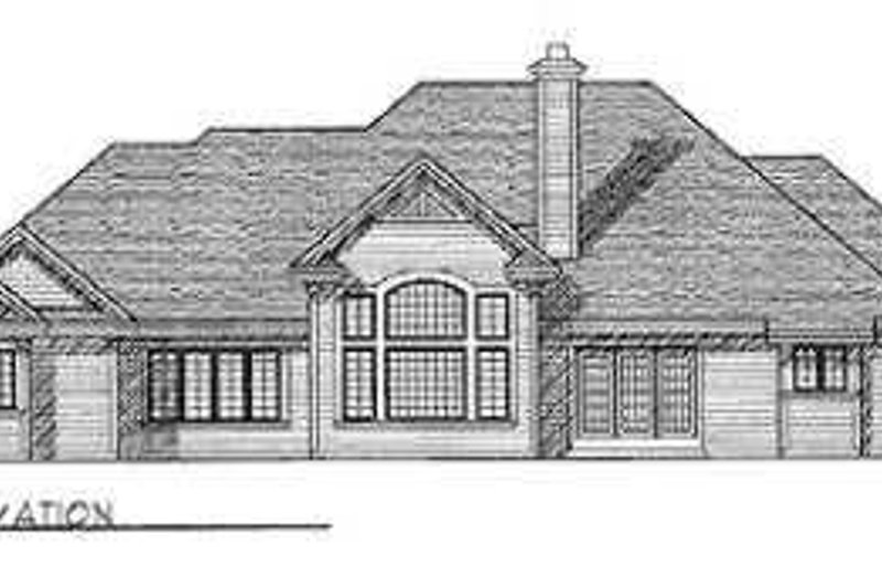 Exterior - Rear Elevation Plan #70-474 - Houseplans.com