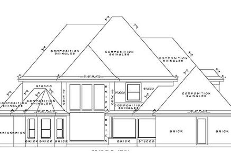 European Exterior - Rear Elevation Plan #61-296 - Houseplans.com
