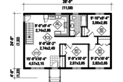 Country Style House Plan - 3 Beds 1 Baths 912 Sq/Ft Plan #25-4661 Floor Plan - Main Floor Plan