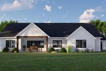 House Plan Design - Farmhouse Exterior - Rear Elevation Plan #1064-115