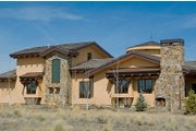 Mediterranean Style House Plan - 3 Beds 3.5 Baths 4368 Sq/Ft Plan #892-5 Exterior - Front Elevation