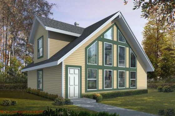 Modern Exterior - Front Elevation Plan #100-464