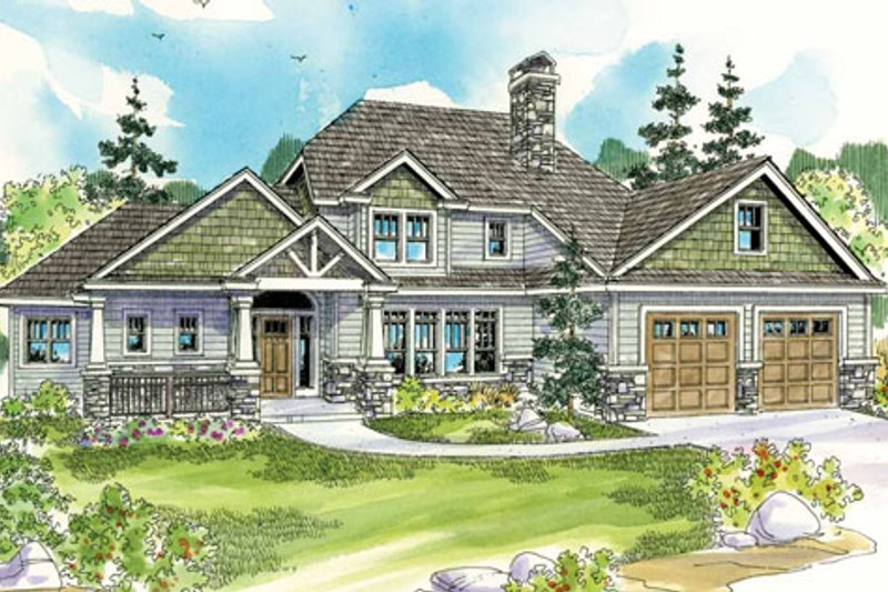 Craftsman Exterior - Front Elevation Plan #124-778