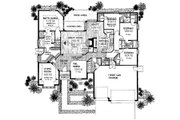 European Style House Plan - 4 Beds 3.5 Baths 2578 Sq/Ft Plan #310-729 Floor Plan - Main Floor