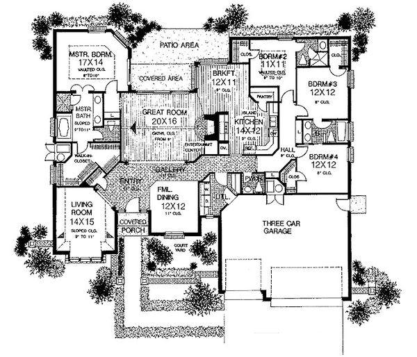 European Floor Plan - Main Floor Plan #310-729