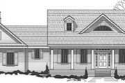Traditional Style House Plan - 1 Beds 1 Baths 1682 Sq/Ft Plan #67-827 Exterior - Front Elevation
