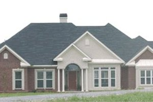 Southern Exterior - Front Elevation Plan #63-107