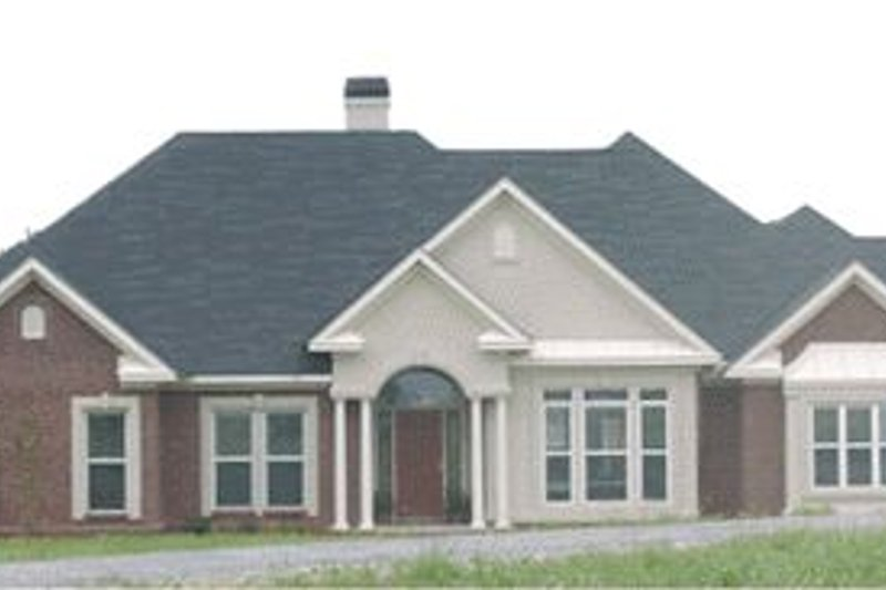 Southern Style House Plan - 4 Beds 2.5 Baths 2586 Sq/Ft Plan #63-107 Exterior - Front Elevation