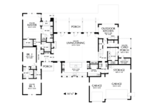 Modern Floor Plan - Main Floor Plan Plan #48-694