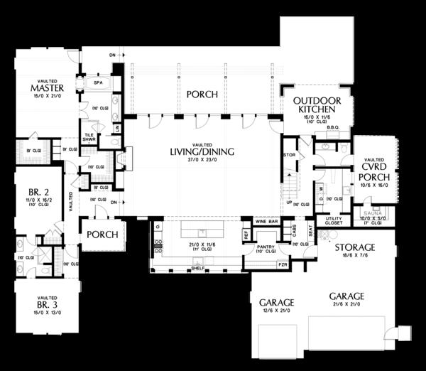 Modern Floor Plan - Main Floor Plan #48-694