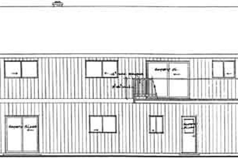 Modern Exterior - Rear Elevation Plan #126-108 - Houseplans.com