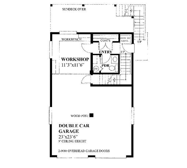 Farmhouse Floor Plan - Main Floor Plan #118-135