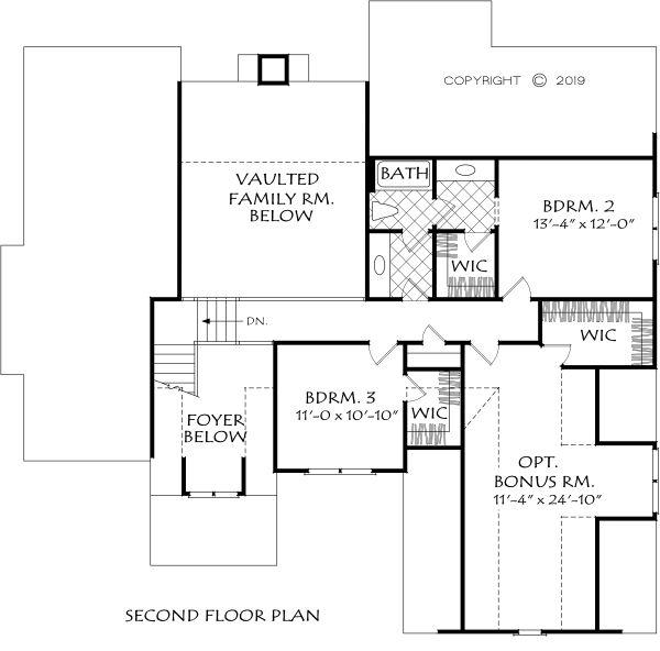 Home Plan - Farmhouse Floor Plan - Upper Floor Plan #927-1003