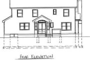 Traditional Style House Plan - 3 Beds 2.5 Baths 1701 Sq/Ft Plan #75-133 Exterior - Rear Elevation
