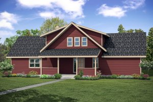 Home Plan - Contemporary Exterior - Front Elevation Plan #124-1095