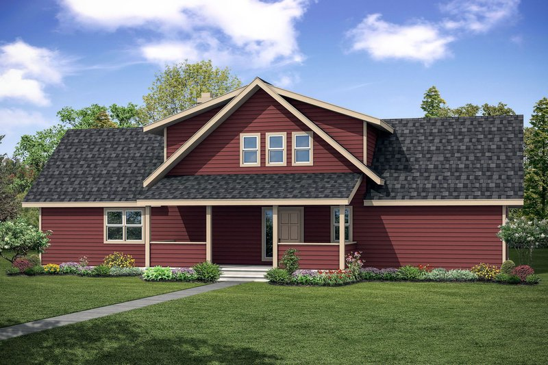 Contemporary Style House Plan - 3 Beds 2.5 Baths 2063 Sq/Ft Plan #124-1095