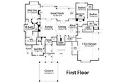 Craftsman Style House Plan - 4 Beds 4 Baths 4164 Sq/Ft Plan #120-186 Floor Plan - Main Floor