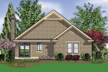 House Plan Design - Rear View - 1275 square foot Craftsman home