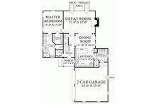 Southern Floor Plan - Main Floor Plan Plan #137-121