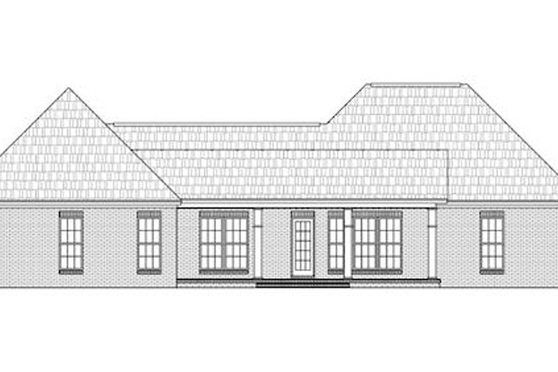 Traditional Exterior - Rear Elevation Plan #21-291 - Houseplans.com