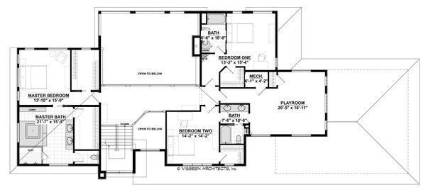 Contemporary Floor Plan - Upper Floor Plan Plan #928-315