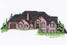 European Exterior - Front Elevation Plan #5-341