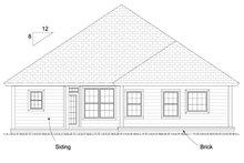 Home Plan Design - Cottage Exterior - Rear Elevation Plan #513-2082