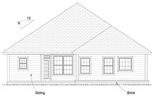 Dream House Plan - Cottage Exterior - Rear Elevation Plan #513-2082