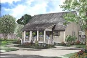 Bungalow Style House Plan - 4 Beds 2 Baths 1458 Sq/Ft Plan #17-547 Exterior - Front Elevation